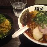 64474569 - 味玉醤油そば&葱チャーシュー丼