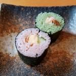 手打蕎麦 一澤 - 小さくてかわいい「蕎麦寿司」