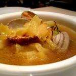 バウレット - アサリと炭焼きキャベツのスープ