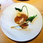 ヤナカ スギウラ - ランチコース3,600円+税 白子のポワレ、ブイヤベーススープ仕立て