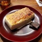 ろくざん亭 - 焼物、「豆腐の味噌田楽」