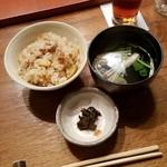 ろくざん亭 - 御食事、新じゃがの炊き込みご飯