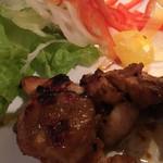 64480880 - 鶏モモ肉の酒粕辛味噌焼き