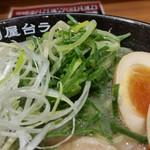元祖博多中州屋台ラーメン 一竜 - ネギのアップ