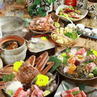当店自慢の『カニと海鮮の寄せ鍋』