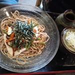 水琴茶堂 - 山菜とろろそば756円