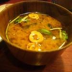 竹亭にしき - 味噌汁