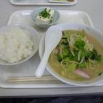 福岡県警察 早良警察署食堂 - ちゃんぽん定食