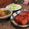 焼肉道草 - 料理写真:「ハクサイキムチ」500円、「カルビ」1,200円