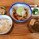 えん処 こばく亭 - 真だら唐揚げおろし定食(¥880)