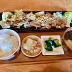 えん処 こばく亭 - まぐろカルビ焼定食(¥880)