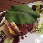 肉とチーズのお店 - 3種チーズトマトのカプレーゼ 734円