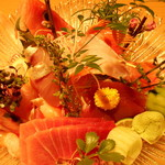 鮮魚と地酒 個室居酒屋 篤媛 - 豪華お造り5点盛り合わせ(篤姫コース・VIPコース)