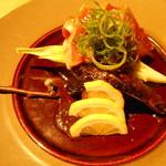鮮魚と地酒 個室居酒屋 篤媛 - マグロのレアステーキ(篤姫コース・VIPコース)