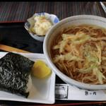 鬼は内 - ミニ赤鬼定食(蕎麦)