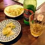 竹海 - 生ザーサイとチンタオ