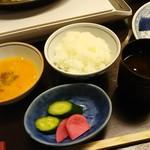 浅草今半 - ご飯のセット