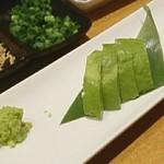 ふくのかみ - アボカド刺身(少し食べちゃいましたww)