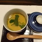 海鮮・鎌倉野菜 まつだ家 - お通しはあんかけ茶碗蒸し
