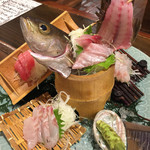 海鮮・鎌倉野菜 まつだ家 - 刺身の盛り合わせ