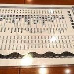 日本酒バル YODARE - 日本酒メニュー1