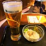 バッソカフェ - 生ビール & ポテトサラダ