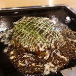 お好み焼 むら - お好み焼きうどんモダン 1110円 + ライス 250円