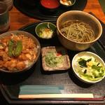 千力 - 茶そばセット(かき揚げ丼) 1100円
