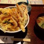 万葉 - 白海老かき揚げ丼定食
