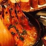 肉バル ビースリー - 赤海老のアヒージョ