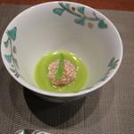 合歓のはな - 小鉢:小林産海老芋 桜饅頭
