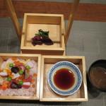 合歓のはな - 飯物:串間産米 松田農園 華ちらし