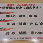 麺屋台 横綱家 - POP①家系ラーメン名物システム。