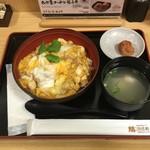 鶏三和 JR京都伊勢丹 - 三和の純鶏 名古屋コーチン親子丼(味噌汁・梅干し付)