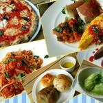 ルフラン - マルゲリータ、タコとオリーブのルチア風のトマト煮こみのパスタなど