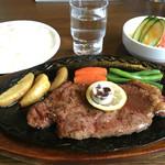 レストラン北国 - 料理写真:サーロインステーキ 1750円