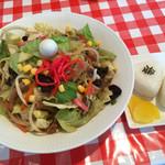 キッチン フラットヒル - 料理写真:野菜たっぷりちゃんぽん おにぎりSET=850円