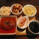 ラ・カーム - 洋風ハンバーグ定食(トマトソース)(789円)