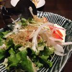 寝ずの甚八 - 豆腐とジャコのサラダ