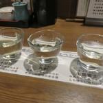 日本酒cafe & 蕎麦 誘酒庵 - 出雲の地酒飲み比べ