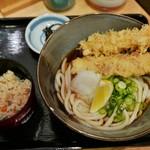 麺花 ゆうしょう - えび・ちくわ天ぶっかけ定食(820円)