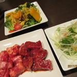 ワンカルビ Plus+ - しゃきしゃきキャベツと玉子のサラダ?や国産細切野菜