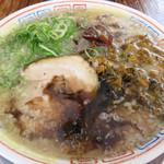 64547684 - 熊本復興支援 黒マー油高菜ラーメン 850円。