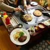 お好み焼レストラン古都 - 料理写真:横並びにするしかない(笑)ハンバーグ定食