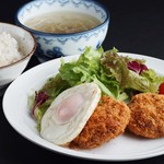 森商店 - 牛たんコロッケ定食