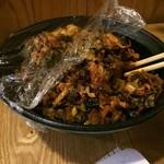 元祖ぴかいち - 卓上の辛味の高菜
