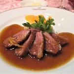 レ・クリスタリーヌ - 鴨胸肉のロースト(オレンジソース)