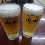 桂ホルモン - ビールで乾杯