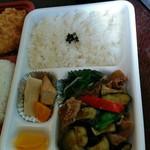 しぶや - ピリ辛焼肉ナス弁当530円