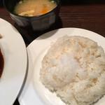 グリルらんぷ亭 - ライス 大も可能 味噌汁☆★★☆